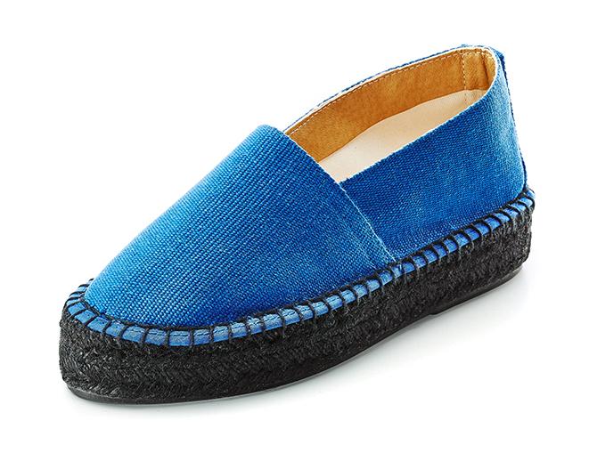 Alpargatas Caravaca lona azul