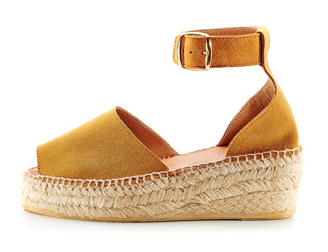 Sandalias Potro serraje Peep toes camel